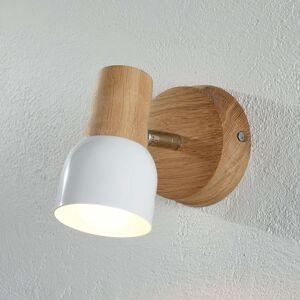 Nástěnné bodové svítidlo Svantje dřevěné detaily