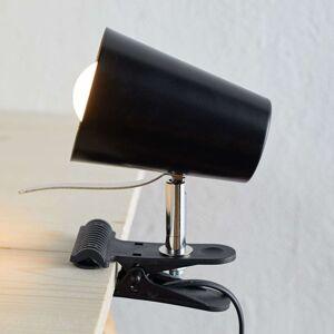 Černá svítilna s klipem Clampspots moderní vzhled