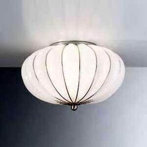 Ručně vyrobené stropní světlo Giove, bílé, 29 cm
