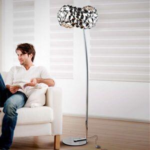 Stojací lampa LED Narisa, leskle pochromovaná