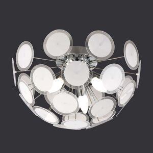 Individuální stropní světlo Circle, bílý/chrom