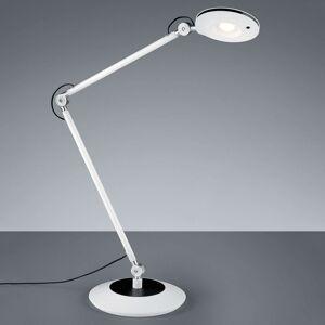 Kloubová LED stolní lampa Roderic v bílé barvě