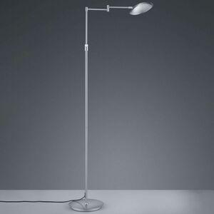 Stojací LED lampa Calcio, nastavitelná, matný nikl