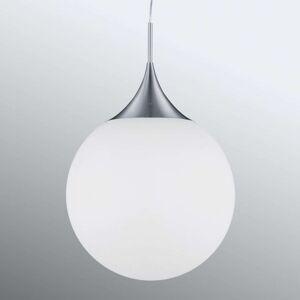 Skleněné závěsné světlo Midas, Ø 45 cm, bílé