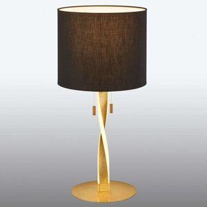 Stojací lampa Nandor zlatočerná s tažným spínačem