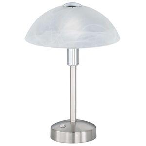 Trio Lighting Stolní lampa LED Donna s dotykovým stmívačem, nikl