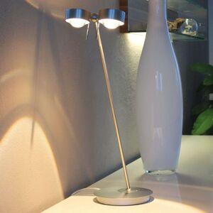 2zdrojová stolní lampa PUK TABLE, chrom