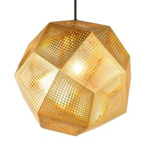 Tom Dixon Etch - geometrické závěsné světlo, mosaz