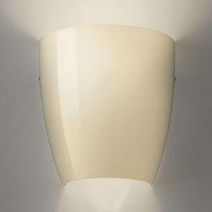 Nástěnné světlo Dafne ze skla glossy písek