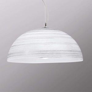 Ručně dekorované závěsné světlo Modesto, bílé