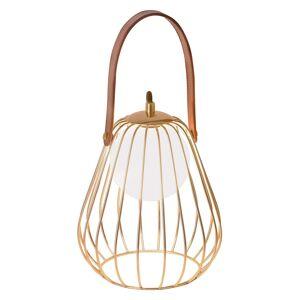 Stolní lampa Levik se zlatou klecí