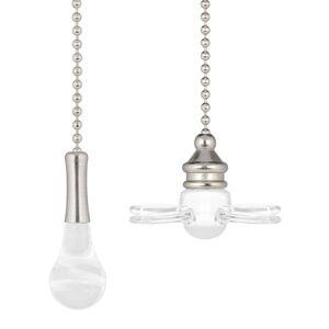 Ventilátor Westinghouse a žárovka, řetěz, nikl