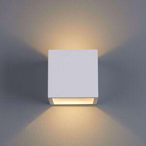 Krychlové nástěnné LED svítidlo Marita ze sádry