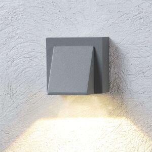 Stříbrně šedé LED venkovní nástěnné svítidlo Marik