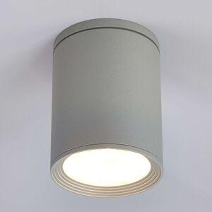 Lucande Venkovní stropní reflektor Minna, stříbrně šedý