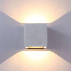 Betonově šedá venkovní nástěnná LED svítilna Riak