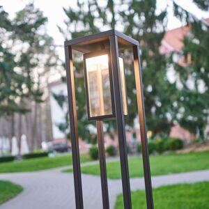 Moderní LED osvětlení cesty Ferdinand, tmavě šedé
