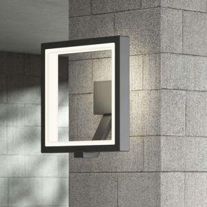 Lucande Venkovní nástěnná LED lampa Sqaure, grafitová šedá