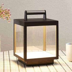 Lucande Stolní LED lampa Cube pro exteriér, dobíjecí