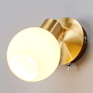 Bodové nástěnné LED osvětlení Elaina, mosaz