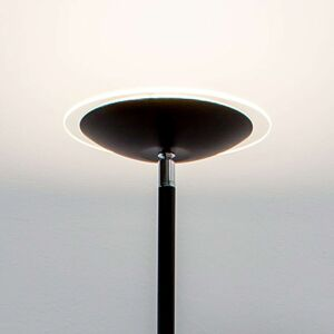 Černá stojací stropní lampa Malea