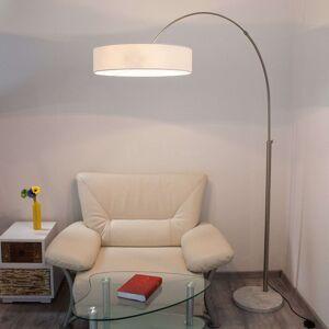 Lindby Bílé textilní stojací osvětlení Shing