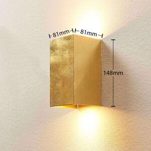 Lindby Zlatě zbarvená nástěnná lampa Tabita z kovu, 2bod