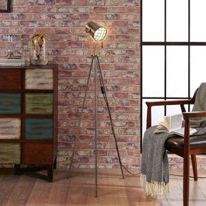 Třínohá stojací lampa Ebbi v industriálním stylu