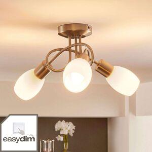 Stropní LED lampa Arda, easydim, 3bodová kulatá