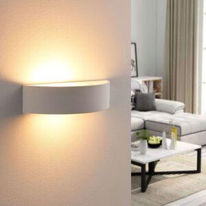 Půlkruhová sádrová lampa Aurel, LED Easydim
