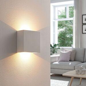Anneke - hranaté nástěnné LED světlo ze sádry