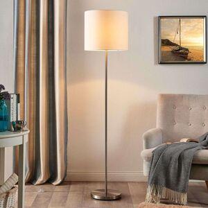 Lindby Parsa - stojací lampa s bílým textilním stínítkem