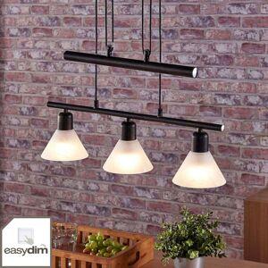 Závěsné LED světlo Eleasa, easydim, 3bodové, černé
