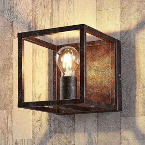 Rezavě zbarvená nástěnná lampa Emin z kovu