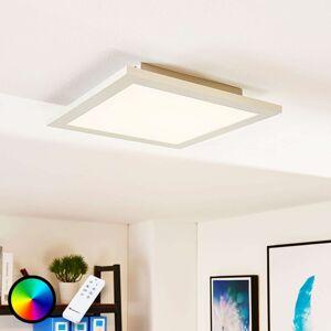Čtvercový LED panel Tinus, RGB a teplá bílá