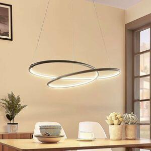 LED závěsné světlo Mirasu, spirálovité, černé