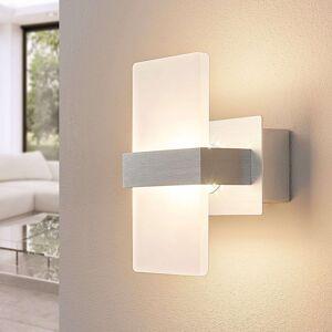 Lindby Nástěnné LED světlo Yorick s bílou clonou