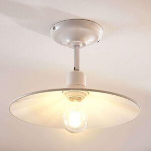 Bílé kovové stropní světlo Phinea, vintage vzhled