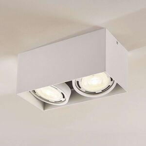 LED downlight Rosalie, hranaté, 2bodové, bílé