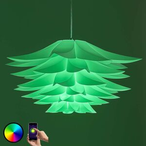 Lindby Smart závěsná lampa Lavinja RGB LED žárovka