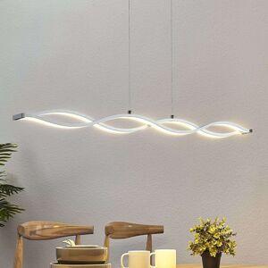 Lucande LED závěsné trámové světlo Roan ve tvaru vlny