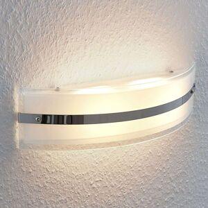 LED nástěnné světlo Zinka ze skla, 37,5 cm