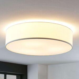 Textilní stropní svítilna Gordana v bílé, 57 cm