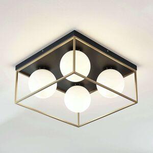Stropní světlo Aloam se 4 skleněnými koulemi