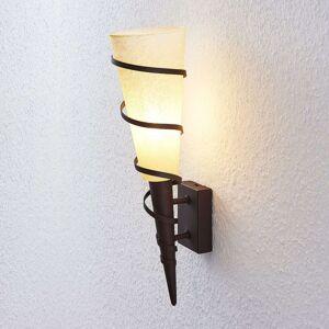 Lindby Anouk nástěnné světlo, rezavý vzhled