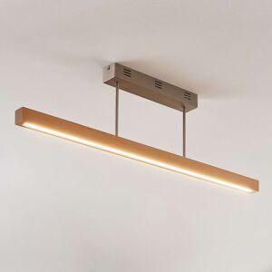 LED stropní světlo Tamlin, buk, 100 cm
