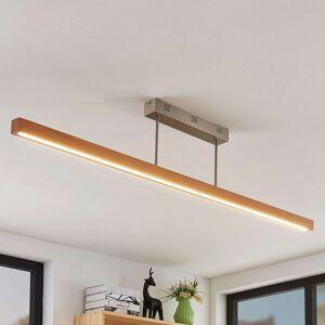 LED stropní světlo Tamlin, buk, 140 cm