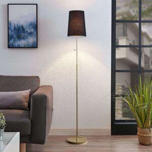 Lucande Pordis stojací lampa, 164 cm, mosaz-černá