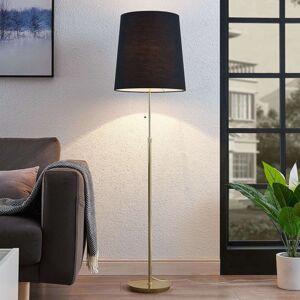 Lucande Pordis stojací lampa, 155 cm, mosaz-černá
