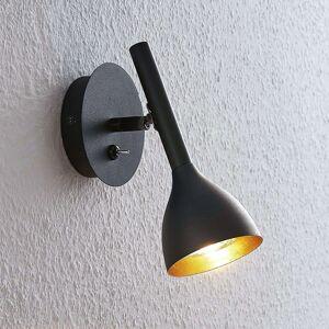 Nástěnné světlo Nordwin z kovu, černo-zlaté